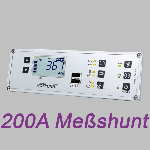 Multi-Panel-System, LCD Anzeige, 12V, Batteriemonitor und 200A Shunt 6