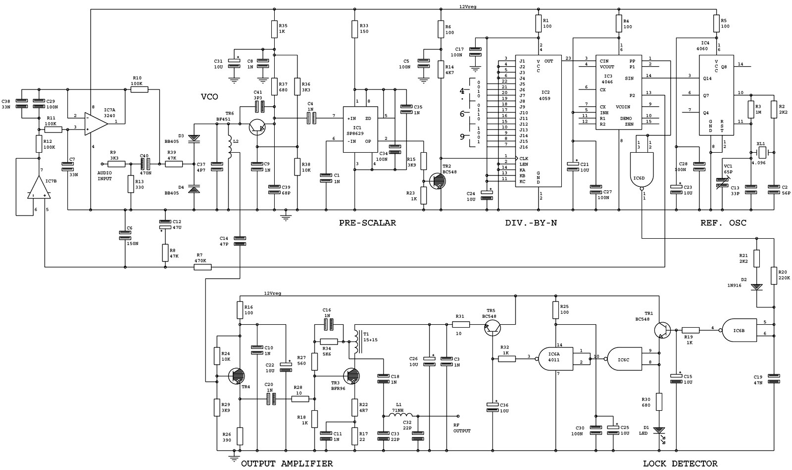 Circuit Diagrams And Schematics For Fm Mw And Sw