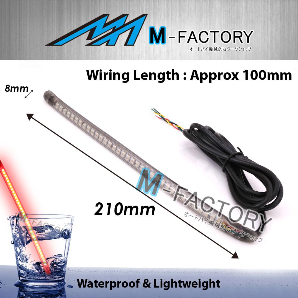 hight resolution of amp z smoke 220mm integrated led tail brake light strip amp z fit aprilia motorcycles