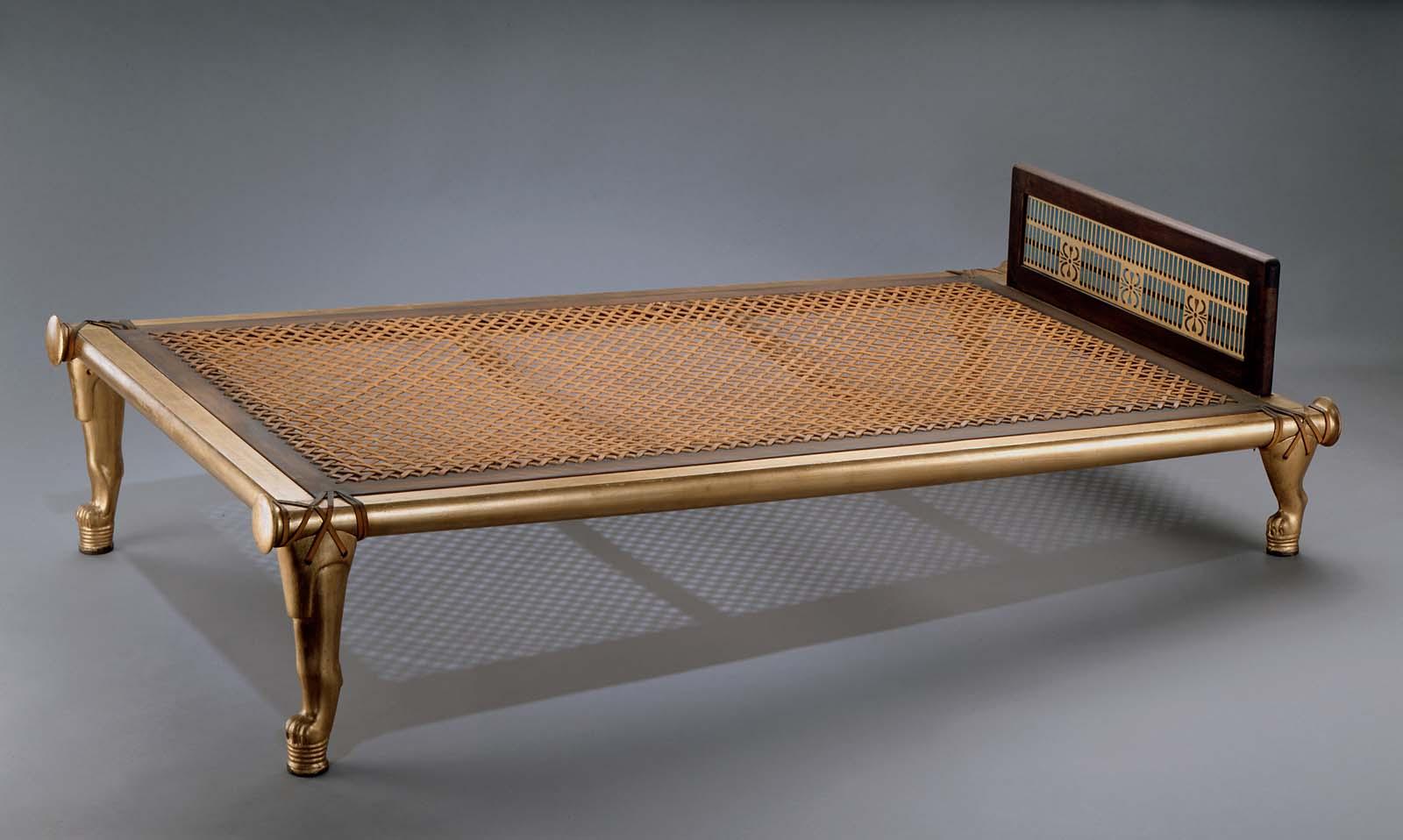Bed of Queen Hetepheres I reproduction  Museum of Fine