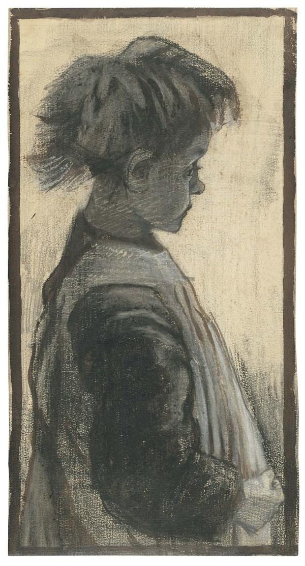 Vincent Van Gogh Charcoal Drawing