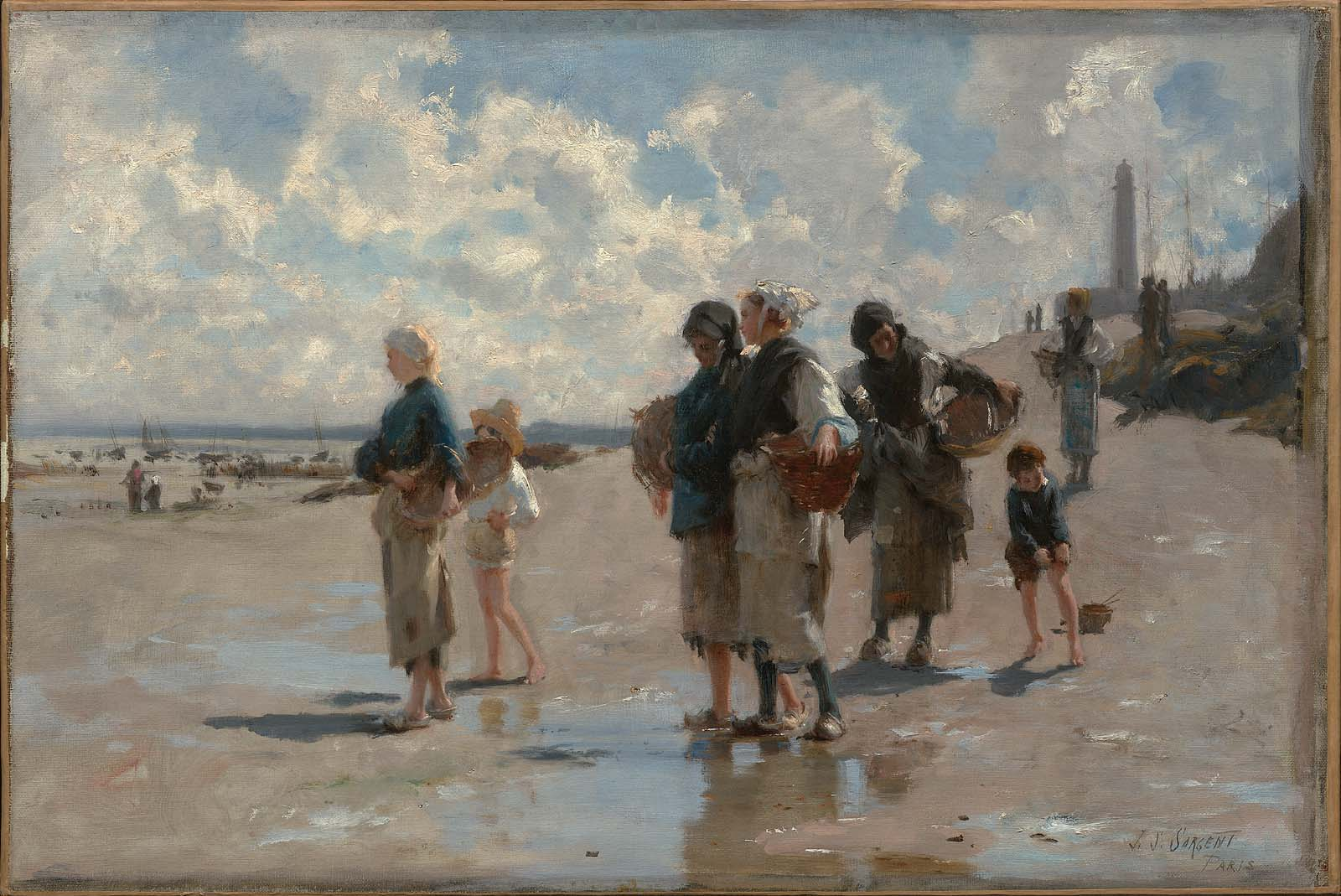 Image result for Sargent, The Oyster Gatherers (1878, Washington)