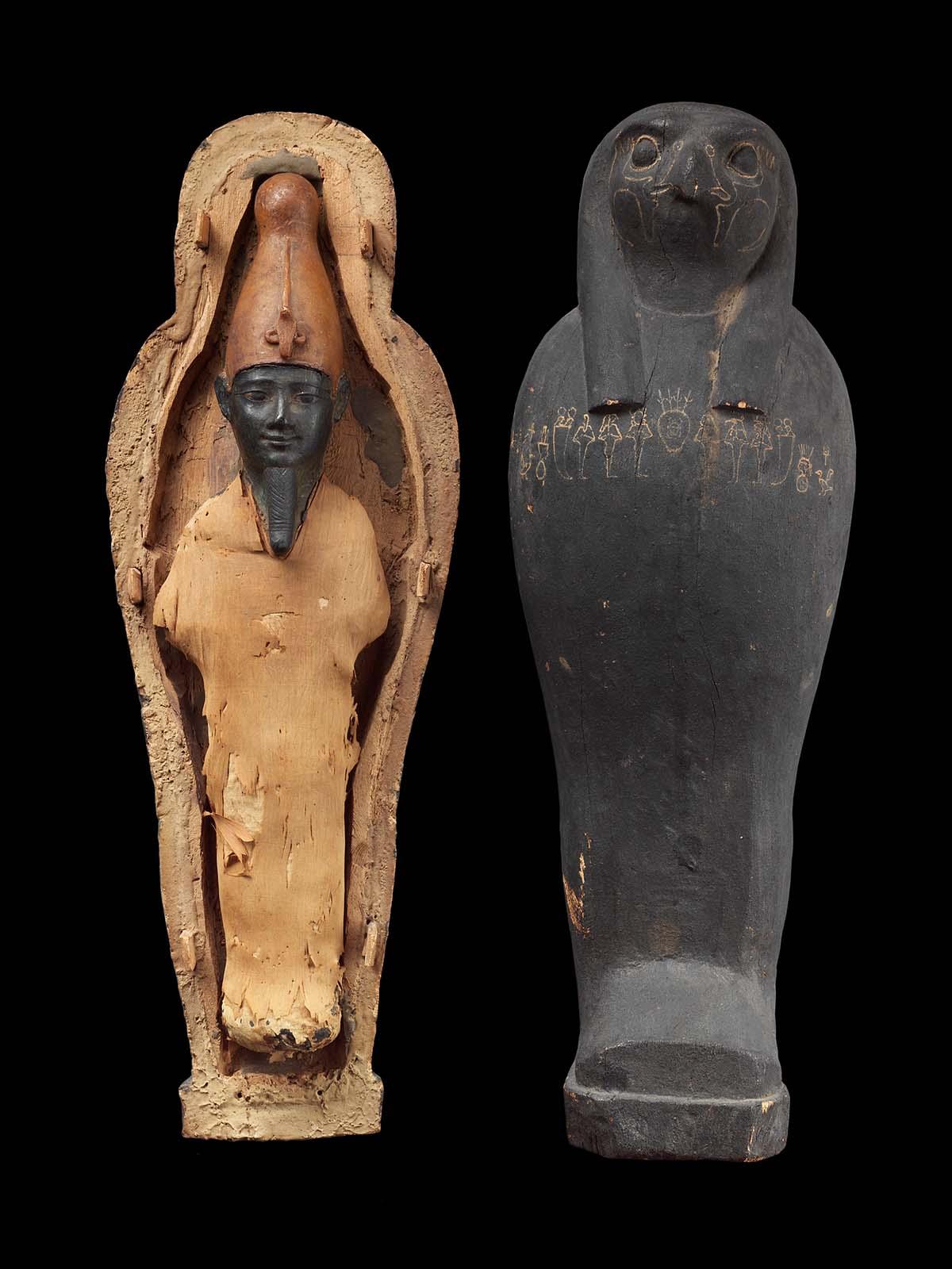 Coffin With Grain Mummy