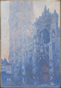 Rouen Cathedral Faade And Tour 'albane Morning Effect