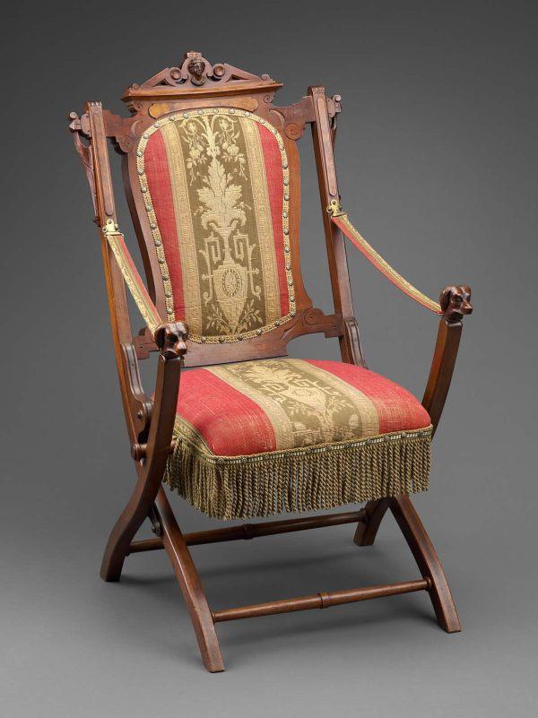 Renaissance Revival Chair Folding