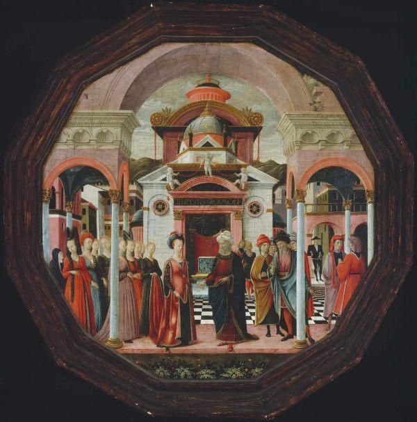 Meeting Of Solomon And Queen Sheba; Cherub