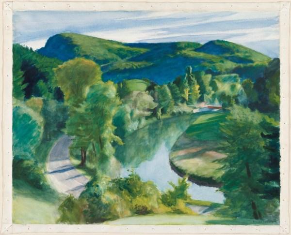 Edward Hopper Watercolor Landscape Paintings