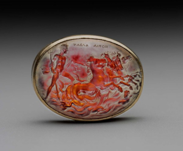 Oval Gem With Augustus Neptune Mounting Sea-chariot