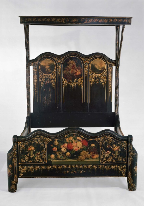 Painted Bedstead With Canopy Museum Of Fine Arts Boston