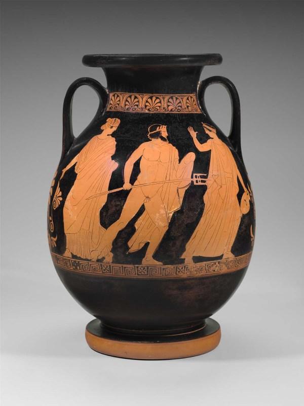 Jar Pelike With Odysseus And Elpenor In Underworld