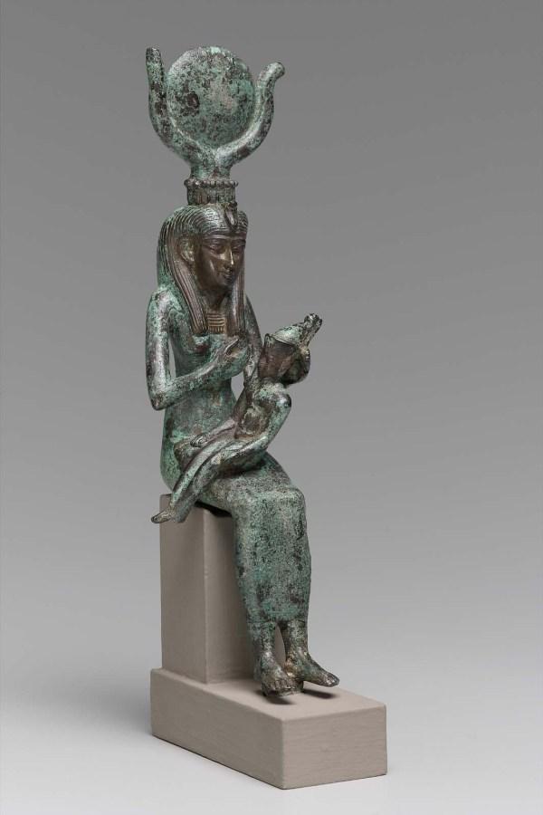 Statuette Of Isis Nursing Horus Museum Fine Arts Boston