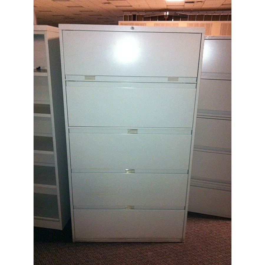 Used Steelcase 5 Drawer Lateral File Cabinet 42 Inch Width