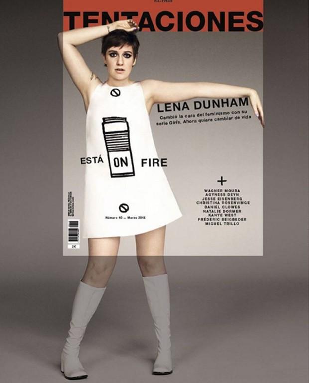 Lena Dunham na capa da revista espanhola (Foto: Reprodução Instagram)