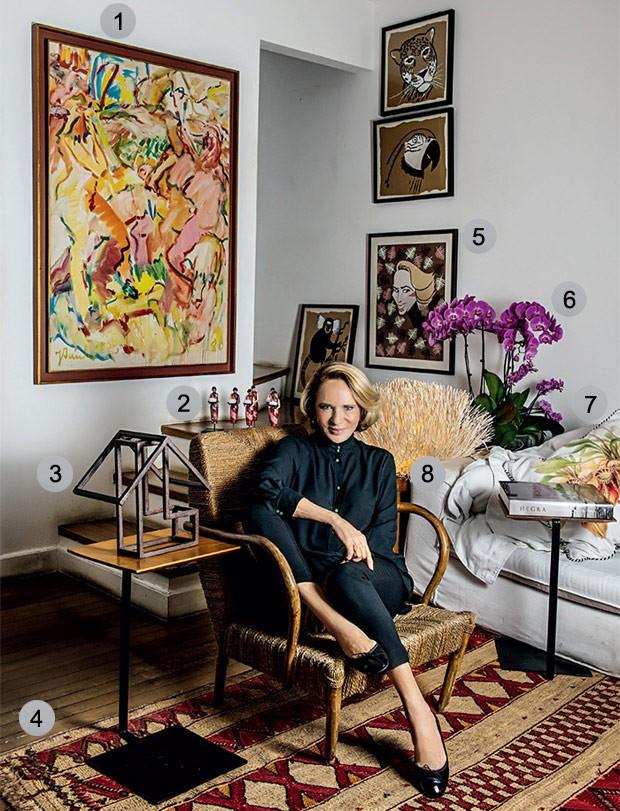 Apartamento de Lenny Niemeyer é decorado com objetos repletos de valor sentimental (Foto: Tomás Rangel)
