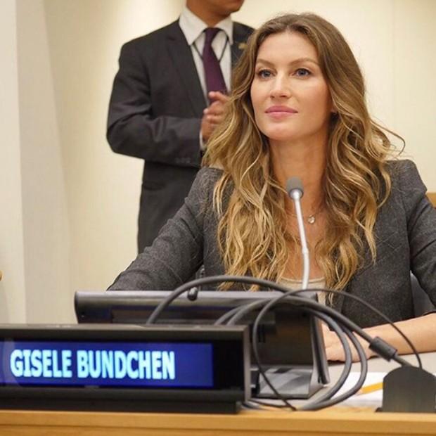 Gisele Bündchen discursa na Assembleia Geral das Nações Unidas (Foto: Reprodução / Instagram)