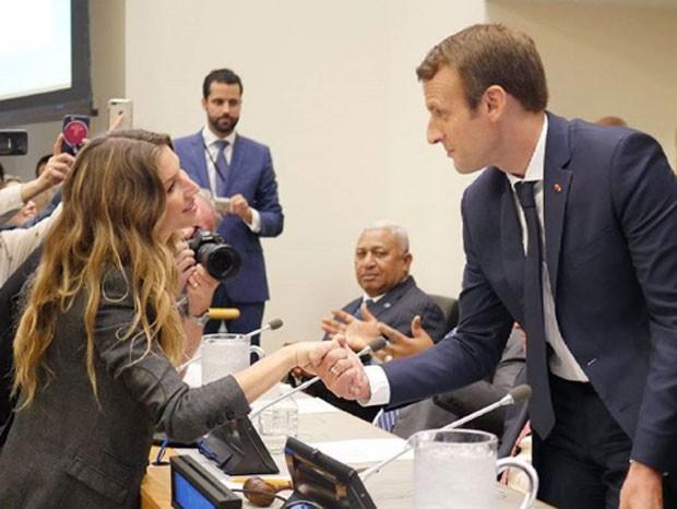 Gisele e Macron (Foto: Reprodução/Instagram)