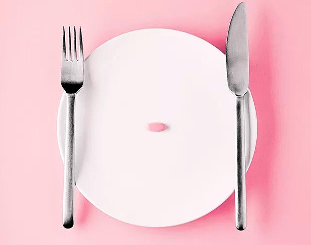 Dieta em cápsula; pilula; prato (Foto: Getty Images)