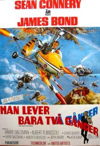 "Poster for the movie ""Man lever bara två gånger"""