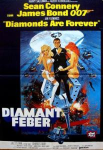 "Poster for the movie ""Diamantfeber"""