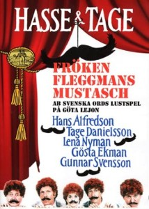 "Poster for the movie ""Fröken Fleggmans mustasch"""