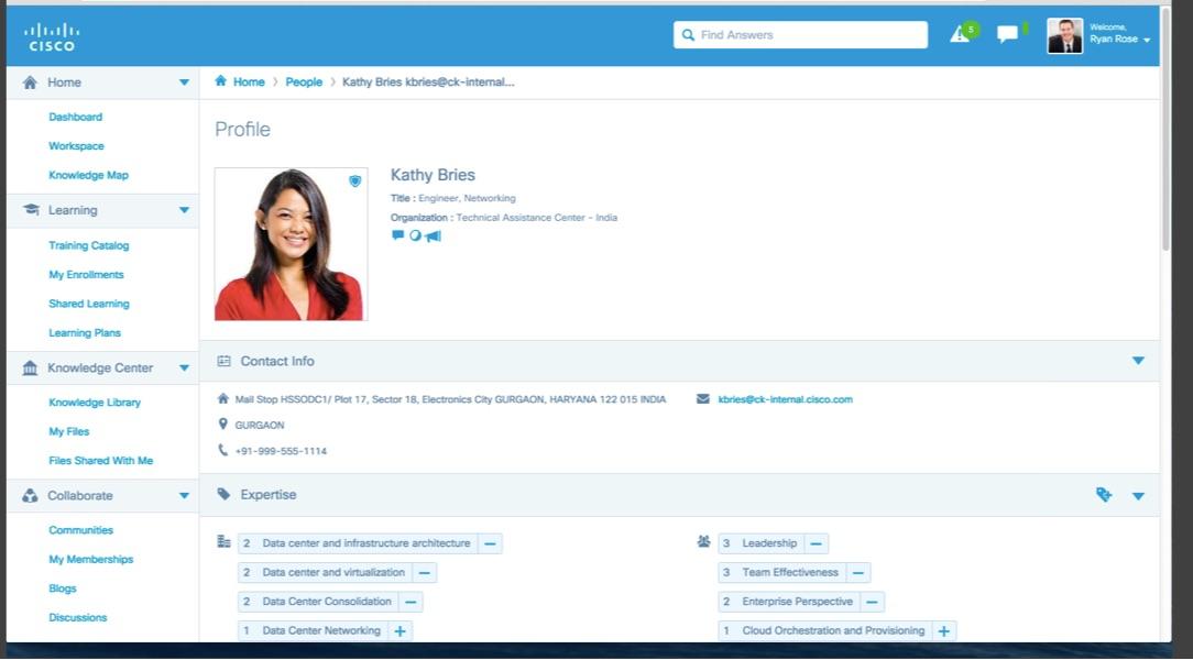 employee profile example