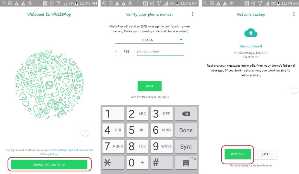 how to verify whatsapp number without phone plan
