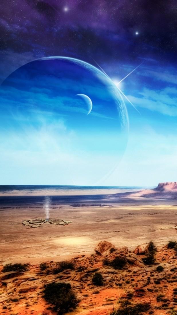 Windows Phone 8x Sci Fi Landscape Wallpaper Id 46630