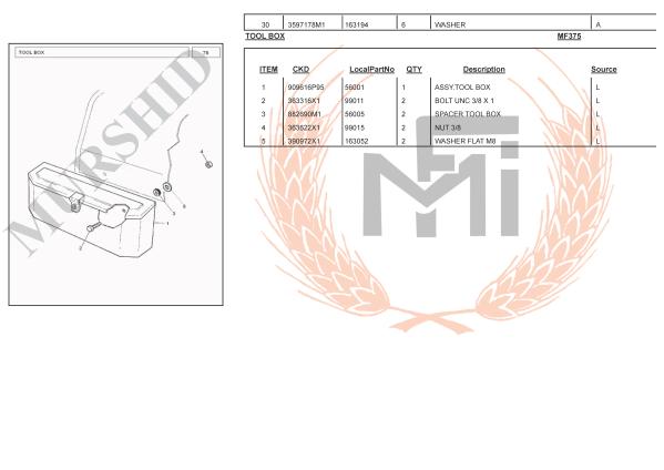 MF375 SPARE PARTS TOOL BOX