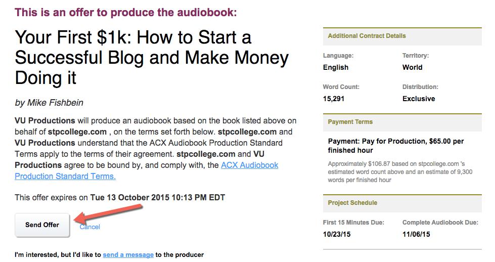 Make an audiobook