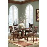 Leahlyn Round Dining Table W 4 Side Chairs Best Buy Furniture And Mattress