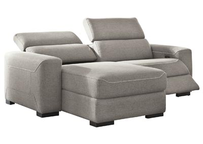 mabton gray left arm facing power reclining 3 piece sectional chaise amazing furniture downtown norwich ct