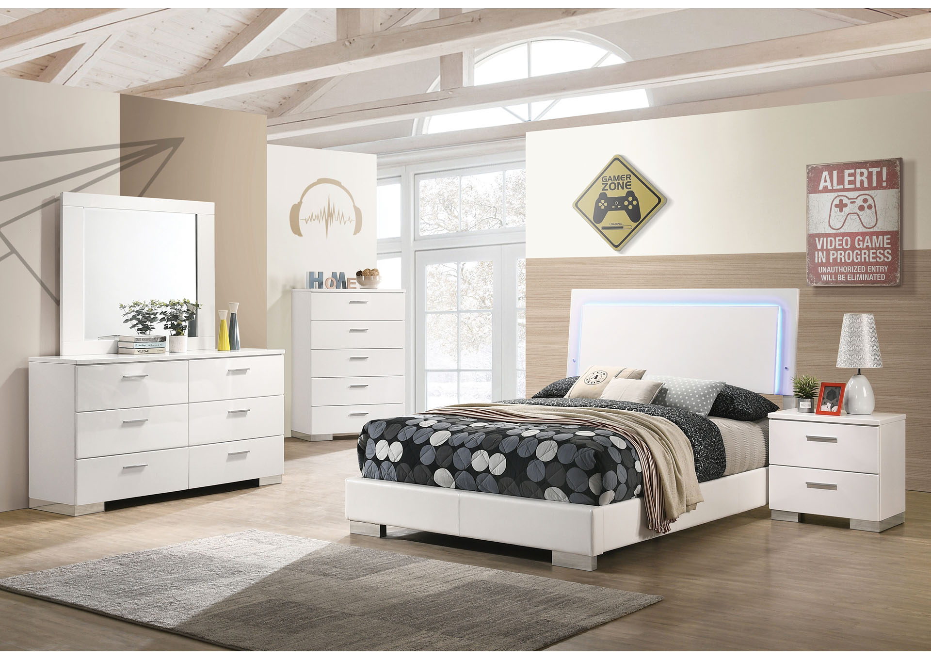 pampas 6 piece california king bedroom