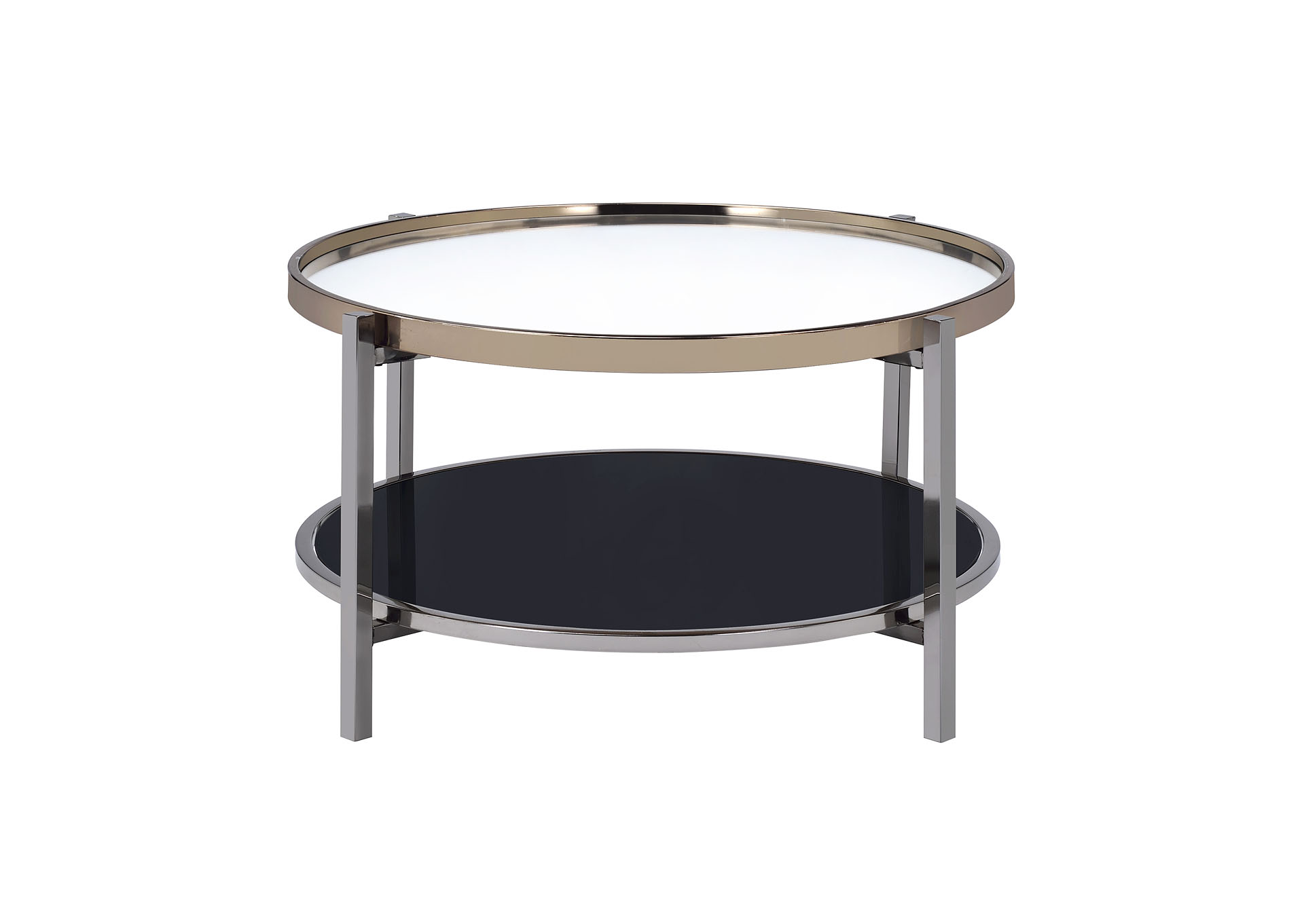 gold slate edith round coffee table spillers appliance and furniture