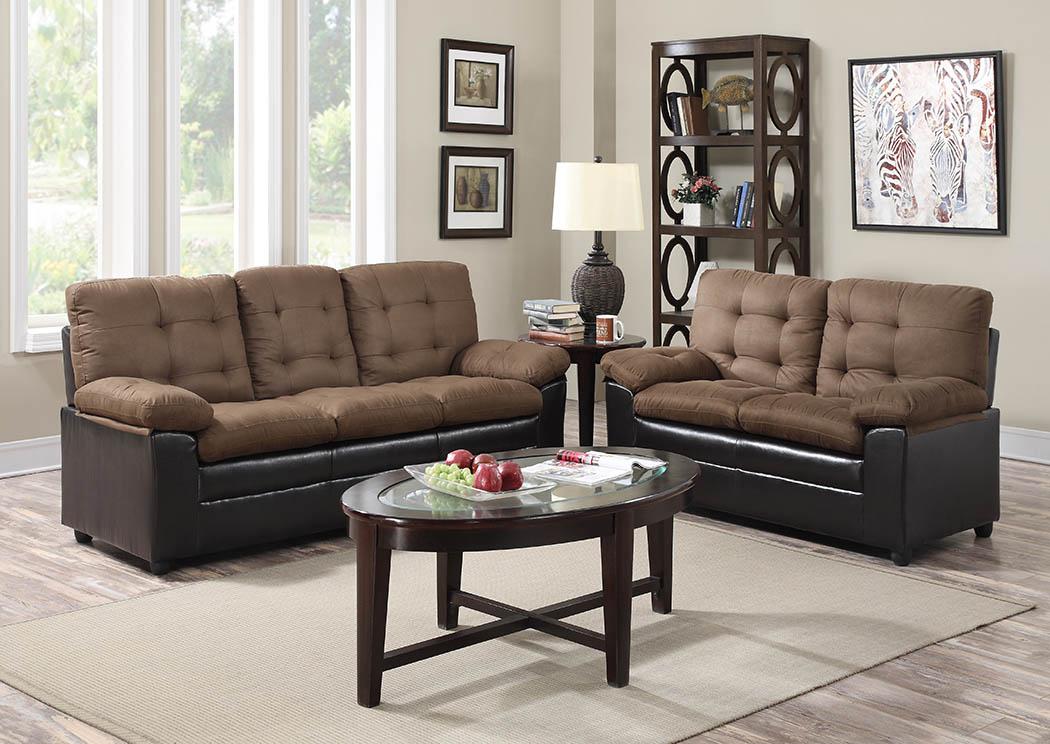 cappucino microfiber leather sofa