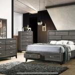 Hudson Gray 5 Piece King Bed Set U And U Home Budget Furniture