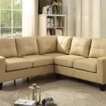 Beige Faux Leather Sectional Rbs Furniture Bronx Ny