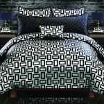 Kate Graphite Black White Geometric Design 5 Piece Queen Comforter Set Renaissance Philadelphia Pa