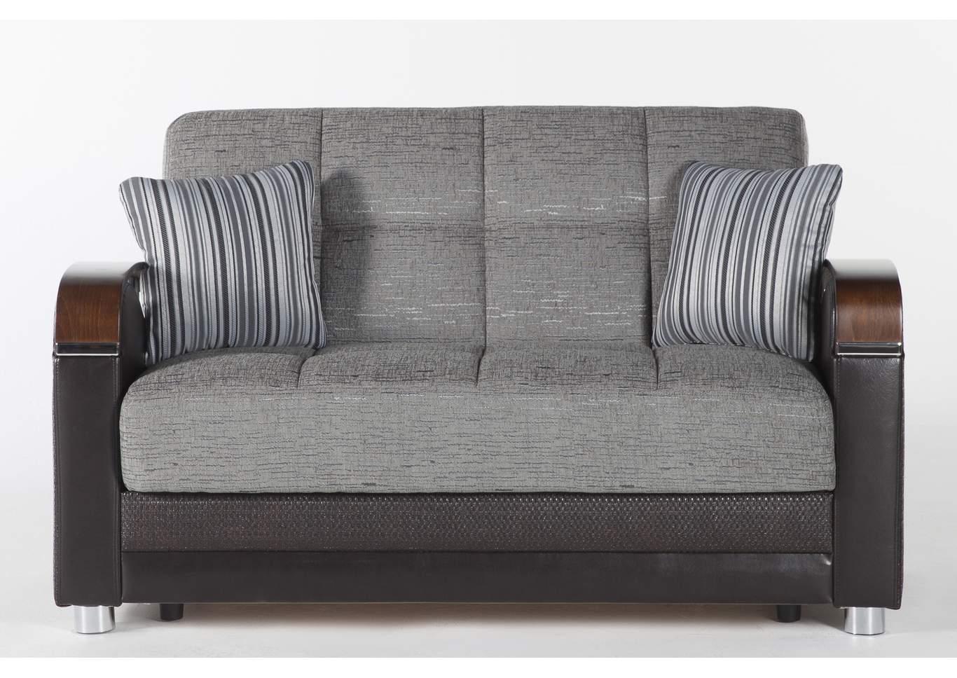 Luna Fulya Gray Loveseat Sleeper Sofa Paivas Furniture