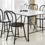 Claire White Marble Top Dining Set W 4 Chairs Ivan Smith