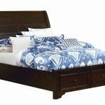 Hanover Dark Cherry Queen Storage Sleigh Bed Roberts Furniture Mattress