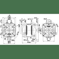 M4Q-045-EA01-75 EBM fan 25 Watt
