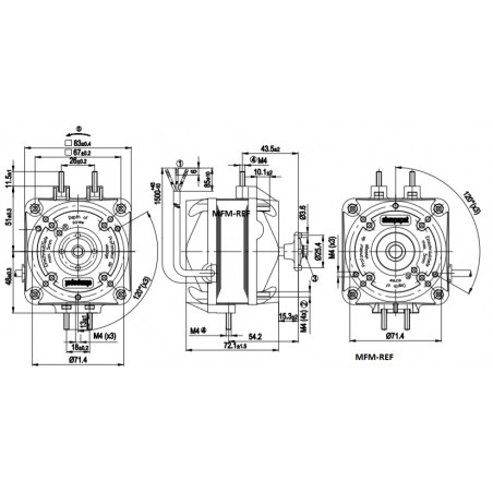 M4Q-045-CF01-75 EBM fan 16 Watts 230-1-50