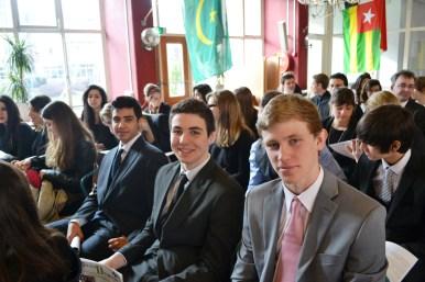 Délégués durant la cérémonie d'ouverture