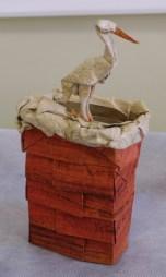 Cigogne sur la cheminée « Chimney sweep » de Sébastien Limet