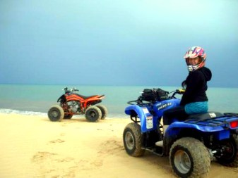 quading the beach