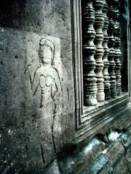 More Devatas on Angkor Wat