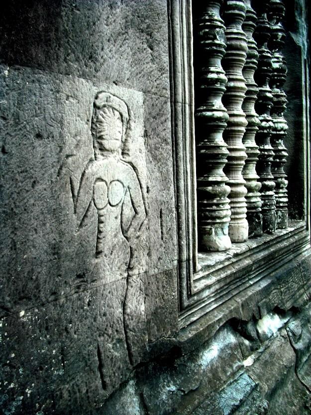 More Devatas on Angkor Wat