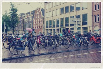 bikes on the canal - amsterdam