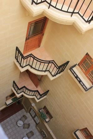 hotel hallway in gozo