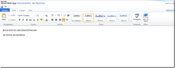 Crear documentos de Microsoft Office (Word , Excel